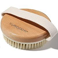 SURDOCA Vegan Body Exfolierande borste, torr borstning kroppsborstar för cellulitborttagare, naturlig bokträ lymfatisk…