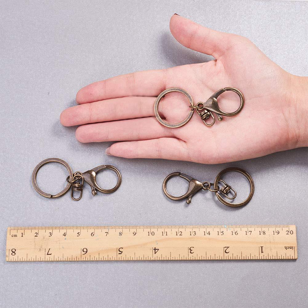 bronzo antico Ferro Nbeads 100/pz moschettone portachiavi 68/mm per fare gioielli collana bracciale risultati