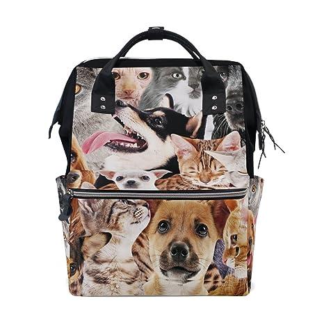 TIZORAX Mochila de pañales para perros y gatos de gran capacidad, multifunción, bolsa de