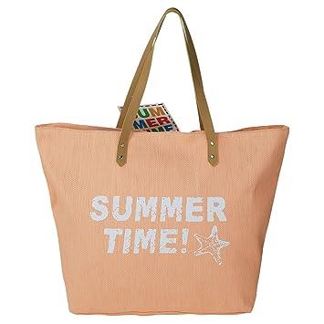 Strandtasche Summer Time Rosa Blau Grün Apricot Badetasche Tasche Farbauswahl
