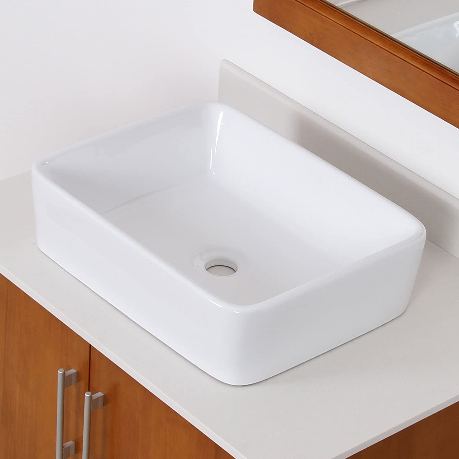 ELITE Bathroom White Porcelain Ceramic Vessel Sink Basin
