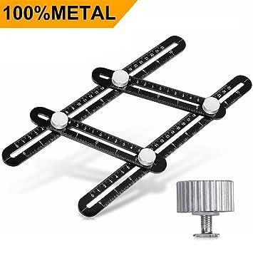 einfacher Winkel VIDEN Schwarzes Mess-Upgrade Verson Aluminium-Legierung Lasergravur Vollmetall-Winkelschablone multifunktionales Angularizer-Lineal