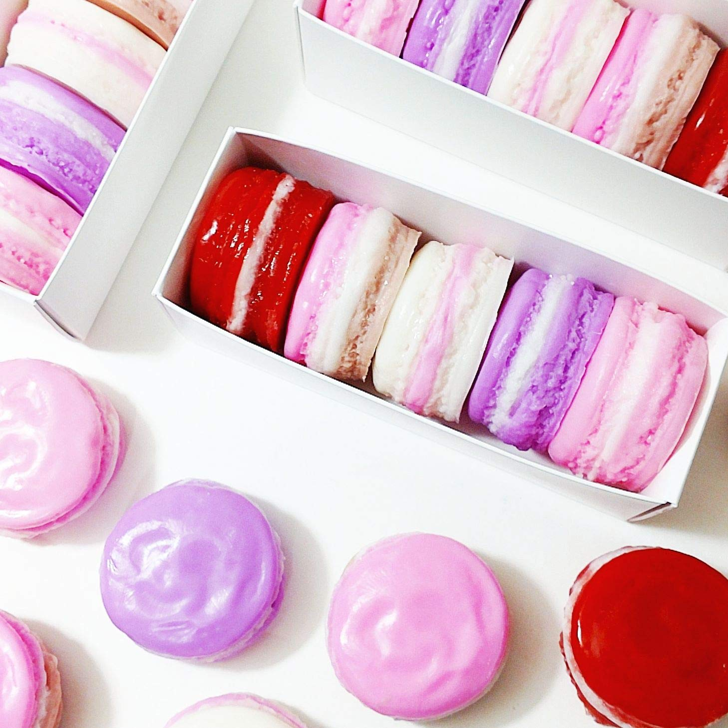 Amazon French Macaron Soap Boxed Gift Set Valentines Day Birthday For Her Handmade