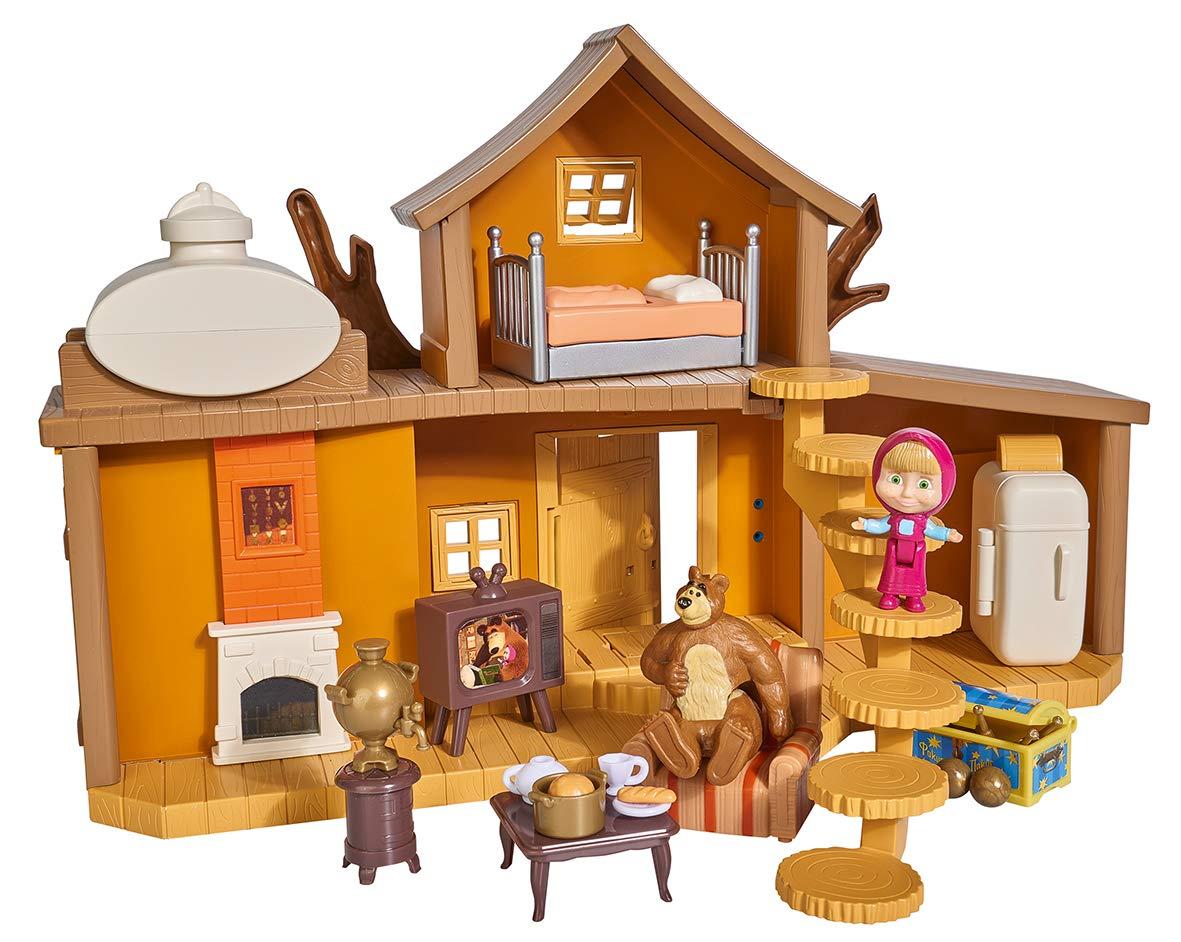 Simba 109301032 - Set da Gioco Masha e l'orso, con 2 Piani e Suono, con Personaggi Masha e Orso, 11 x 35 x 22 cm