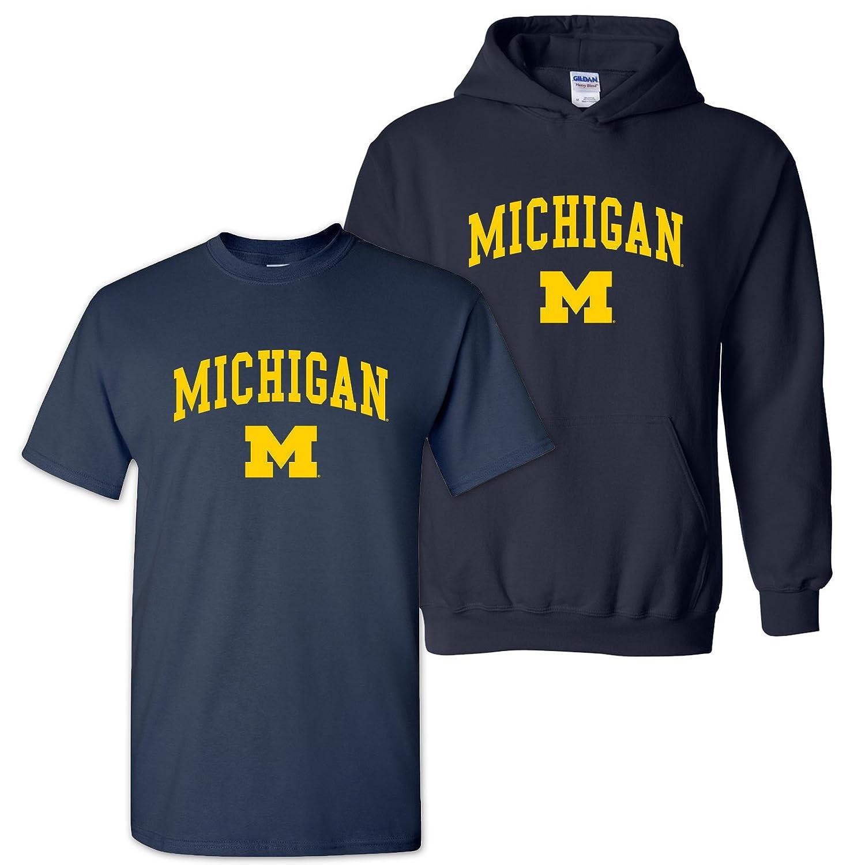 College UGP Campus Apparel NCAA Arch Logo T Shirt /& Hoodie Bundle University