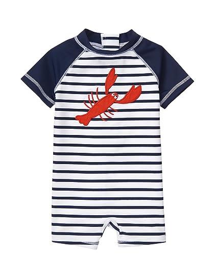 0c15a438a0 Amazon.com: Gymboree Baby Boys' Toddler Lobster 1pc Swim: Clothing