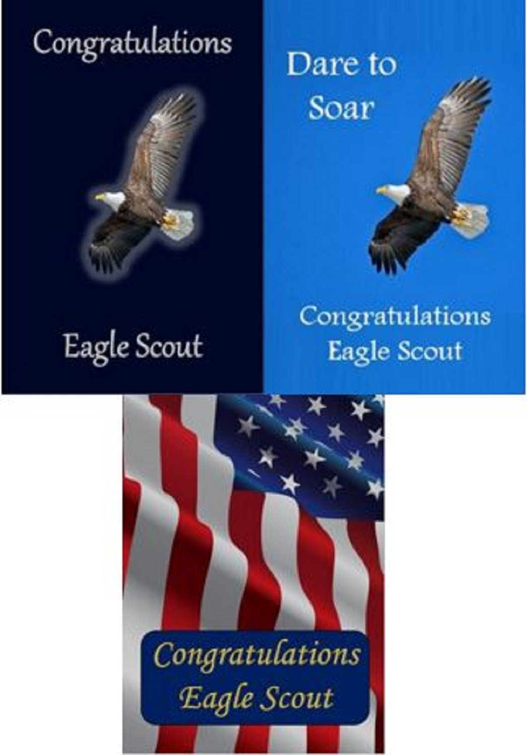 photo relating to Eagle Scout Congratulations Card Printable called Eagle Scout Congratulations Card: Pack of 6 (3 Patterns)