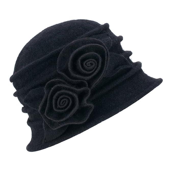 Lawliet Cappello cloche da donna vintage 722ce4b714b7