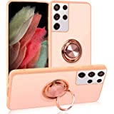"""WWW Case for Samsung Galaxy S21 Ultra/Galaxy S21 Ultra 5G 6.8"""" with Built-in 360° Rotating Ring Kickstand,Magnetic Car Mount"""