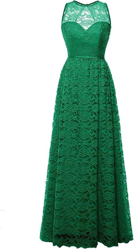 Miusol Robe de Soir/ée Longue pour Femme Dentelle Robe de Demoiselle dhonneur