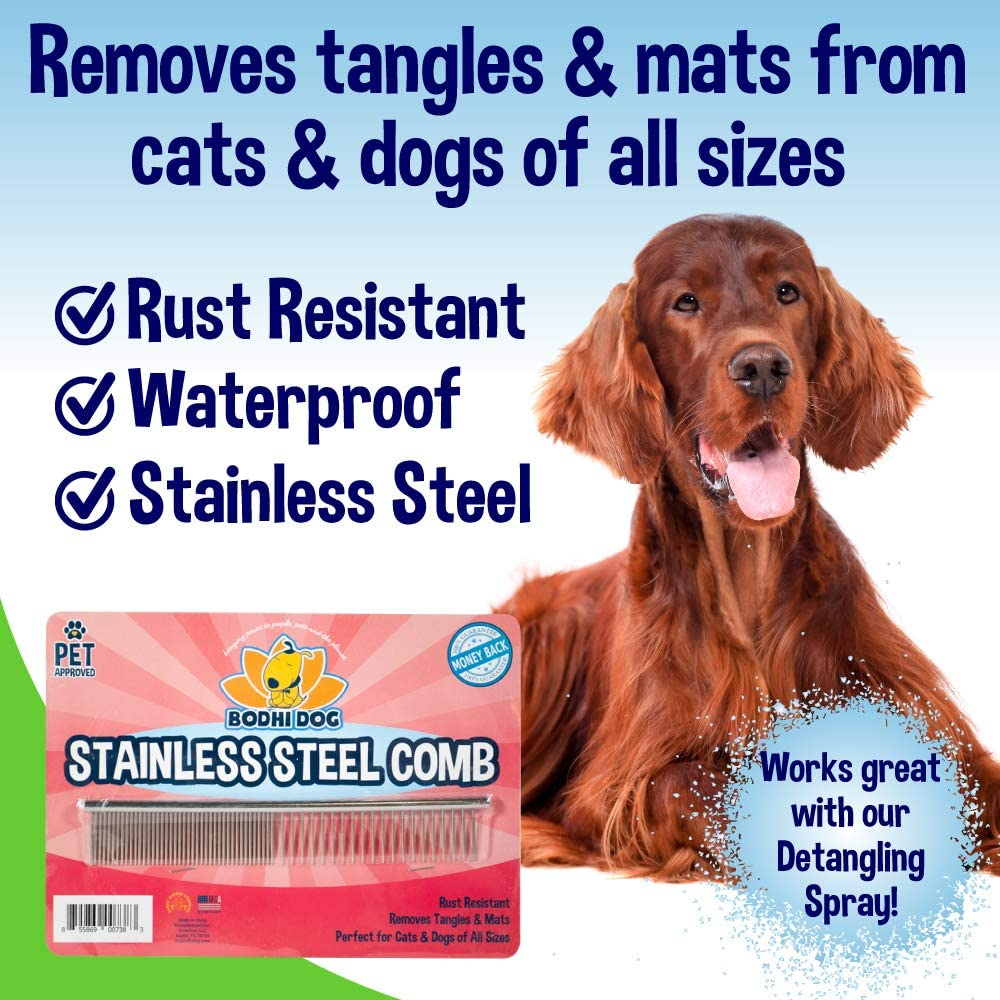 Amazon.com: Premium peine desenredante para perros y gatos ...