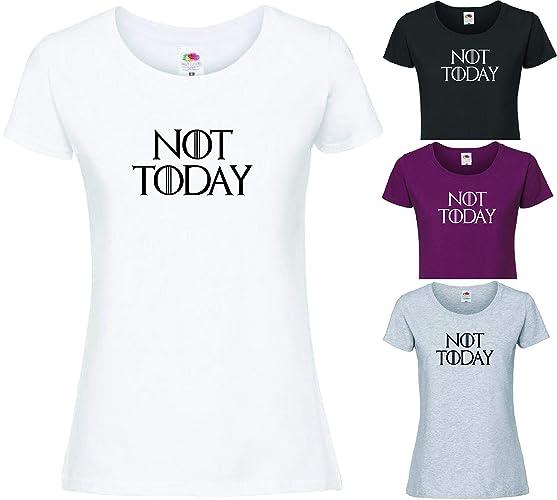 7ce7f5c1 NOT TODAY Arya Stark T-SHIRT GAME OF THRONES inspired TEE GoT T Shirt  Maisie Williams: Amazon.co.uk: Handmade