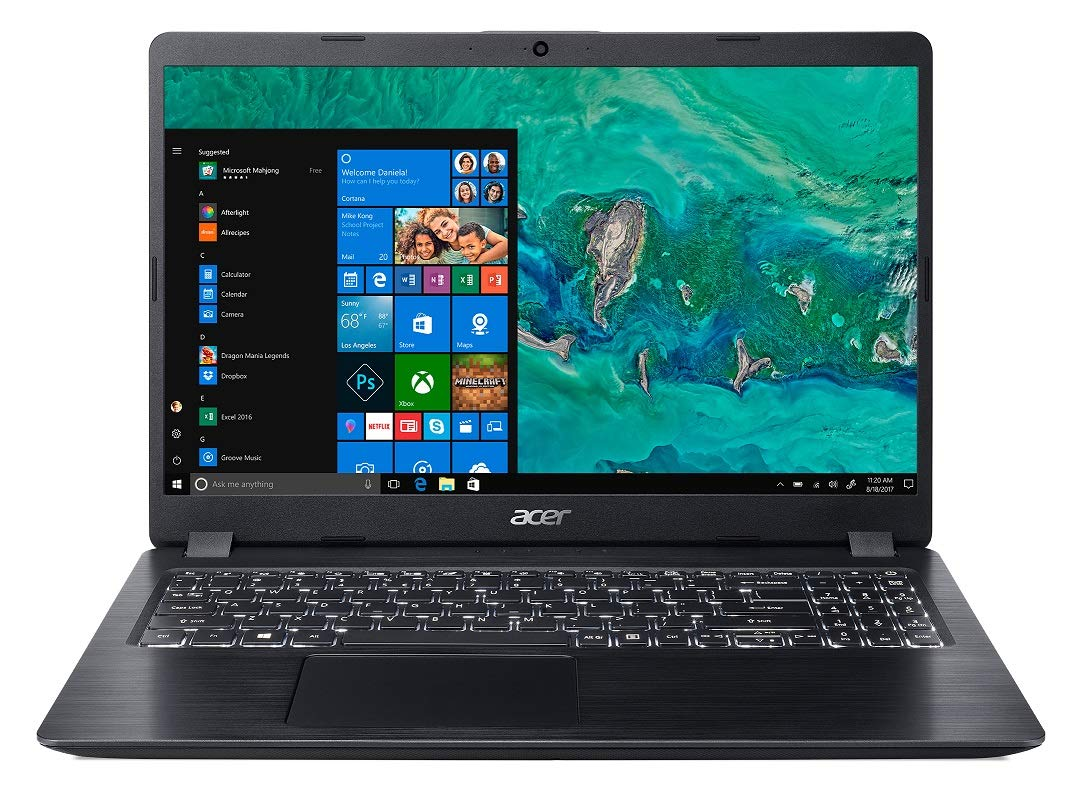 Acer Aspire 5 A515-52K 15.6-inch Laptop (7th Gen Intel Core i3-7020U processor/4GB/1TB/Win10/MSO/Integrated Graphics), Black