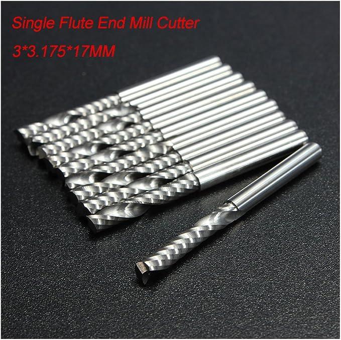 Bright Round Shank Type .1000 RedLine Tools - RE27117 Single End Corner Radius Carbide End Mill 1.5000 OAL 4 Flute .1500 LOC .0100 Radius Uncoated
