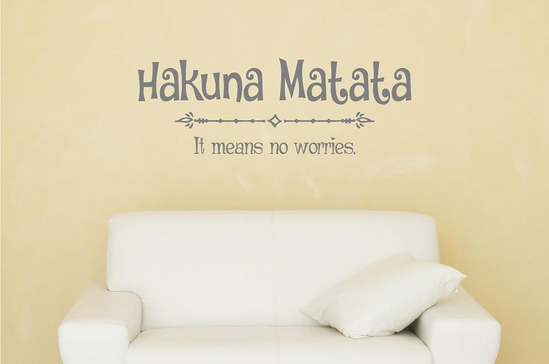 Amazon.com: Davis Hakuna Matata Wall Decal: Home & Kitchen