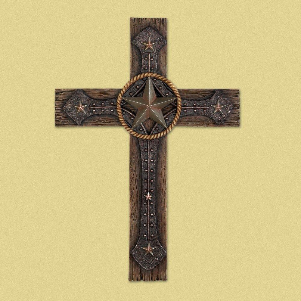 Amazon.com: Wings of Devotion Crosses Wall Art, Polyresin Decorative ...