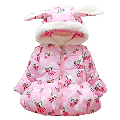 Baby Girl Winter Cotton Rabbit Hooded Coat Thick Warm Outwear Clothes Dreamyth