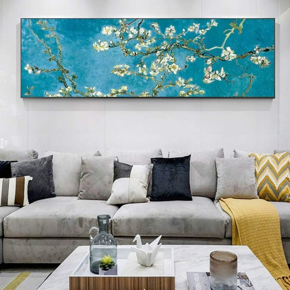 inch de Van Gogh Toile dart Peintures Accueil d/écorations Fleurs Photos for Living Room Tableaux Decoration Color : 1, Size STAMONY Peinture c/él/èbre Fleur damande : 40x120cm Unframed