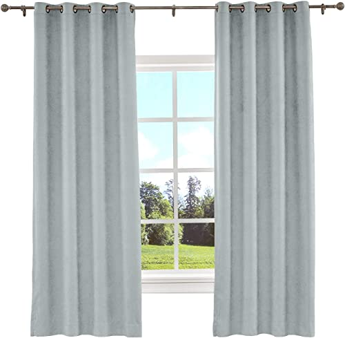 TWOPAGES Indoor Thermal Insulated Curtains Bronze Grommet Top Blackout Curtain