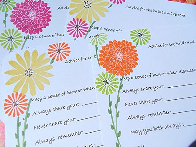 bridal shower wish cards advice for the bride to be cards