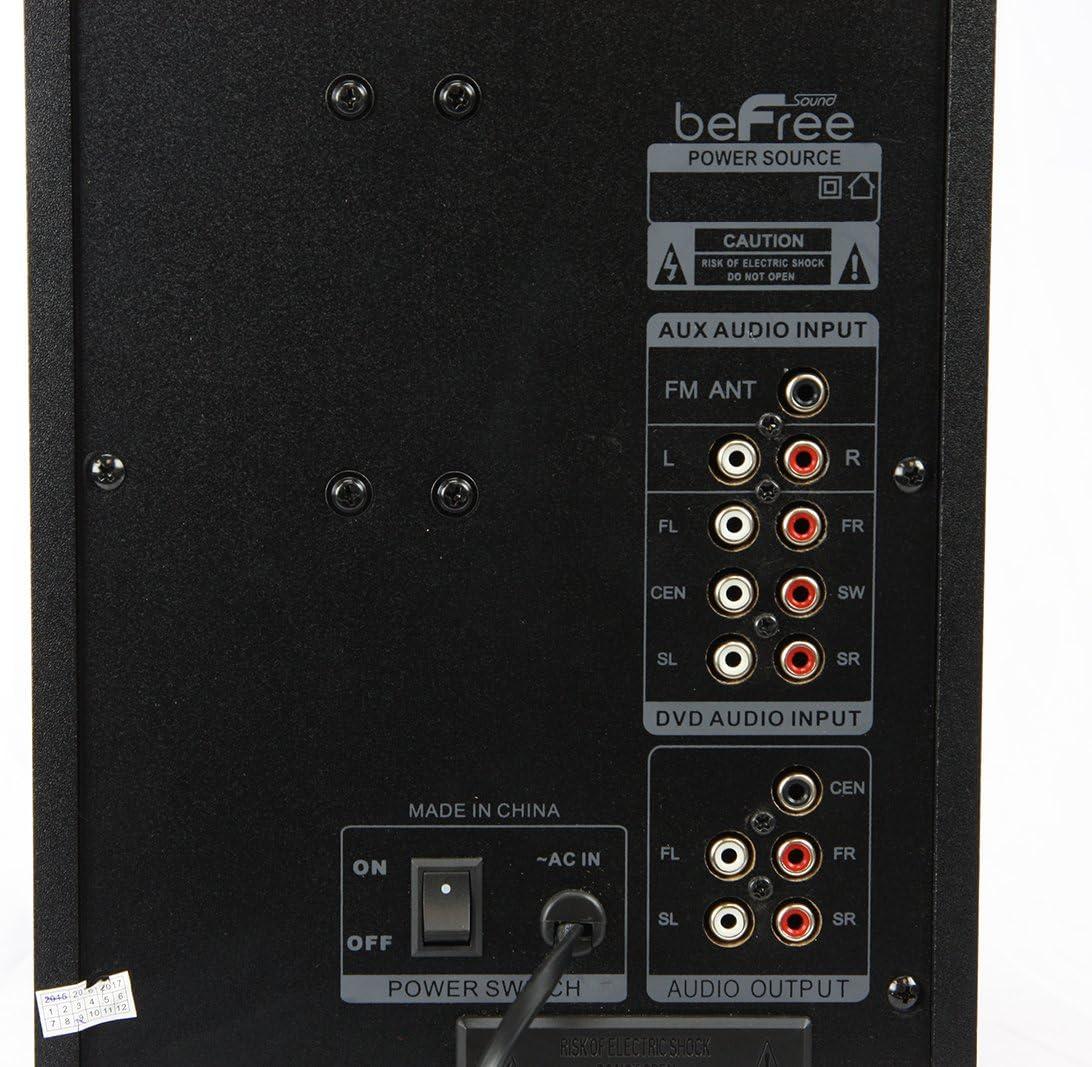 beFree Sound 5.1 Channel Bluetooth Surround Sound Speaker System