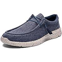Zapatos de Lona para Hombre Zapatos Casuales Transpirables Ligeros de Moda Antideslizantes con Cordones de Color sólido