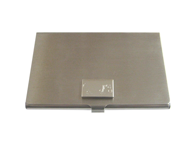 Silver Toned Etched HIPPOビジネスカードホルダー   B01K8P7LJY