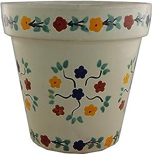 Mexican Talavera Planter Ceramic Flower Pot Folk Art Pottery Garden Handmade #25