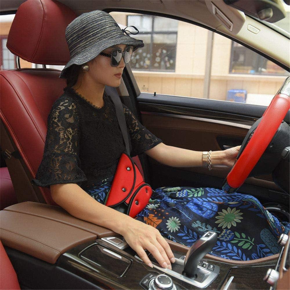 MOTZU 2 Piece Black Car Seat Belt Fixator,Car Safe Fit Seat Belt Sturdy Adjuster,Car Safety Belt Adjust Triangle for Baby Child Toddler Protection,Universal Cover Soft Adjustable Belt Pad Clips Device