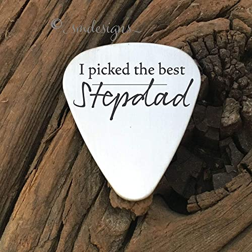 I Picked The Best Stepdad Guitar Pick Gift For Dad Fathers Day Present Birthday