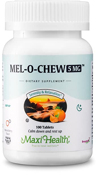 Extra-Strength Mel-O-Chew by Maxi Health | 5 MG Kosher Chewable