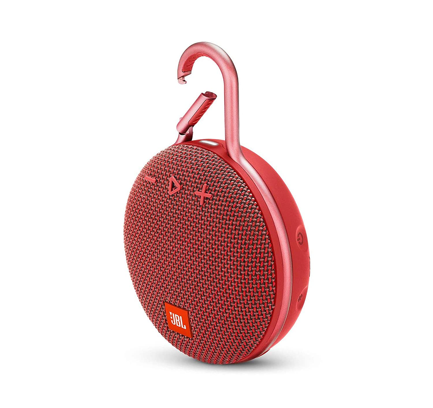 JBL Clip 3 Waterproof Portable Bluetooth Speaker - Red