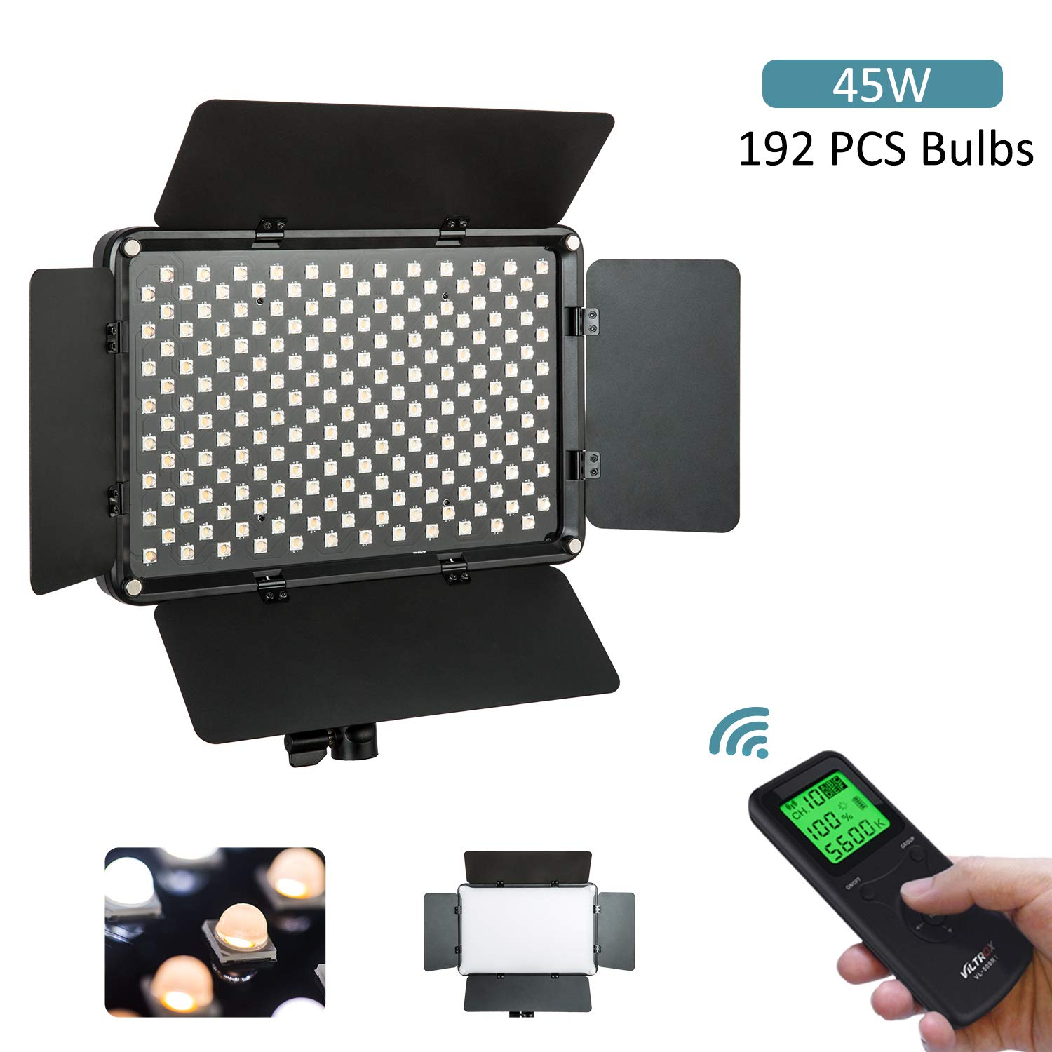 VILTROX VL-S192T 4700LM Led Video Lights Panel Bi-Color 3300k-5600k Photography Video Lighting CRI95+ TLCI95+ Studio YouTube Outdoor 45W