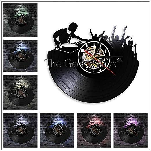 ALKLKJ Reloj de Pared Disco de Vinilo Reloj de Pared Clásico ...