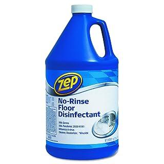 Zep Commercial 1041697 No-Rinse Floor Disinfectant, 1 gal Bottle