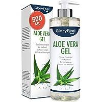 Aloe Vera Gel 500ml - 100% organisk kontrollerad odling - Naturlig hudvård och kylande fuktkräm efter sol…