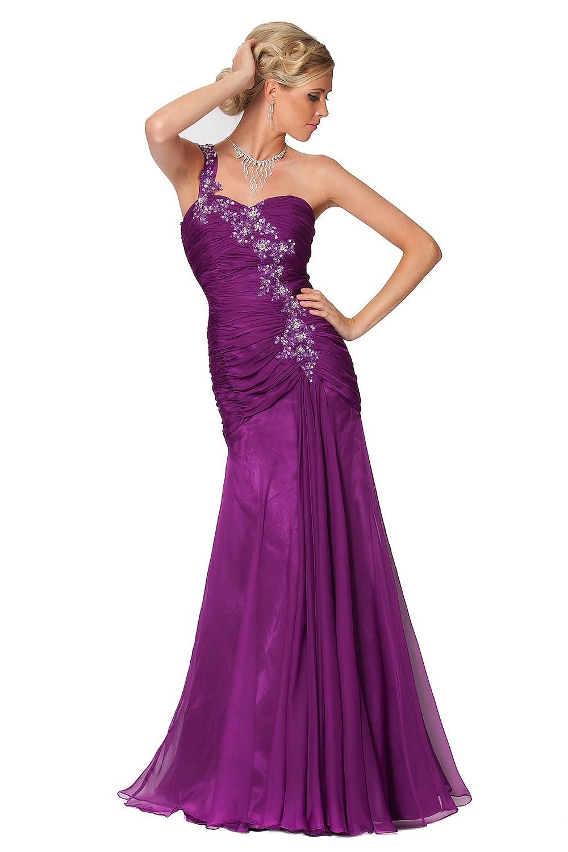 SEXYHER Gorgeous Flower Sequins One Shoulder Evening Dress - EDJ1425