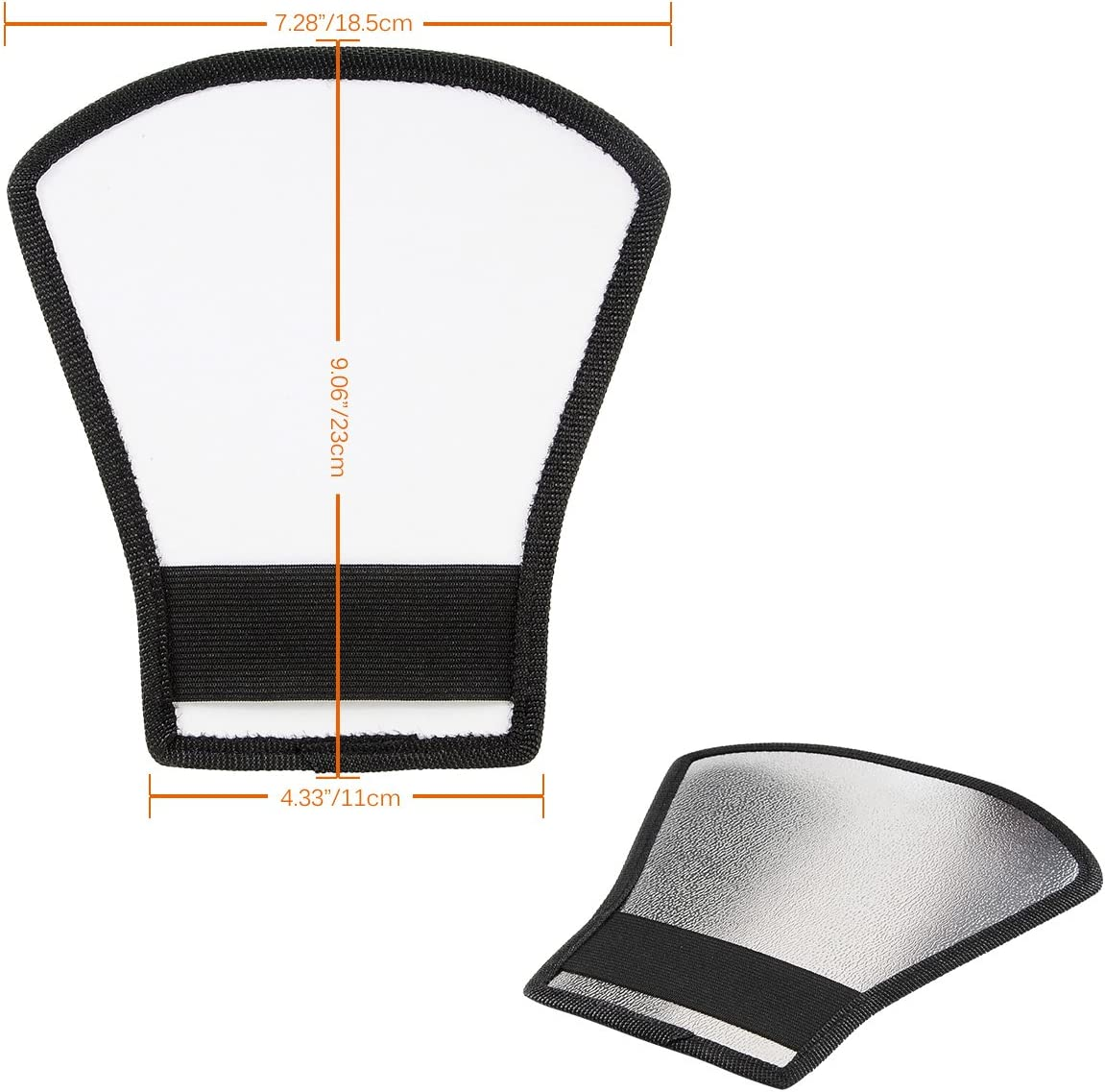 Bigking Diffusor Softbox Universal Runde Faltbare Diffusor Softbox Shoot Makro Blitzlicht Lampenhaube