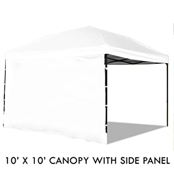 Pop Up Canopy Tent with Sidewall 10 x 10 Feet White - UV Coated  sc 1 st  Amazon.com & Amazon.com : Pop Up Canopy Tent with Sidewall 10 x 10 Feet White ...