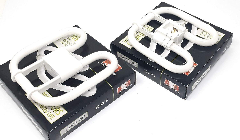Confezione da 2 lampadine 2D a forma di farfalla ASD Lighting 16 Watt 4000 K luce bianca fredda