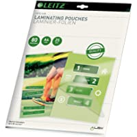 Esselte-Leitz 16917 Lot de 25 pochettes de plastification thermique format A4 épaisseur 80 microns