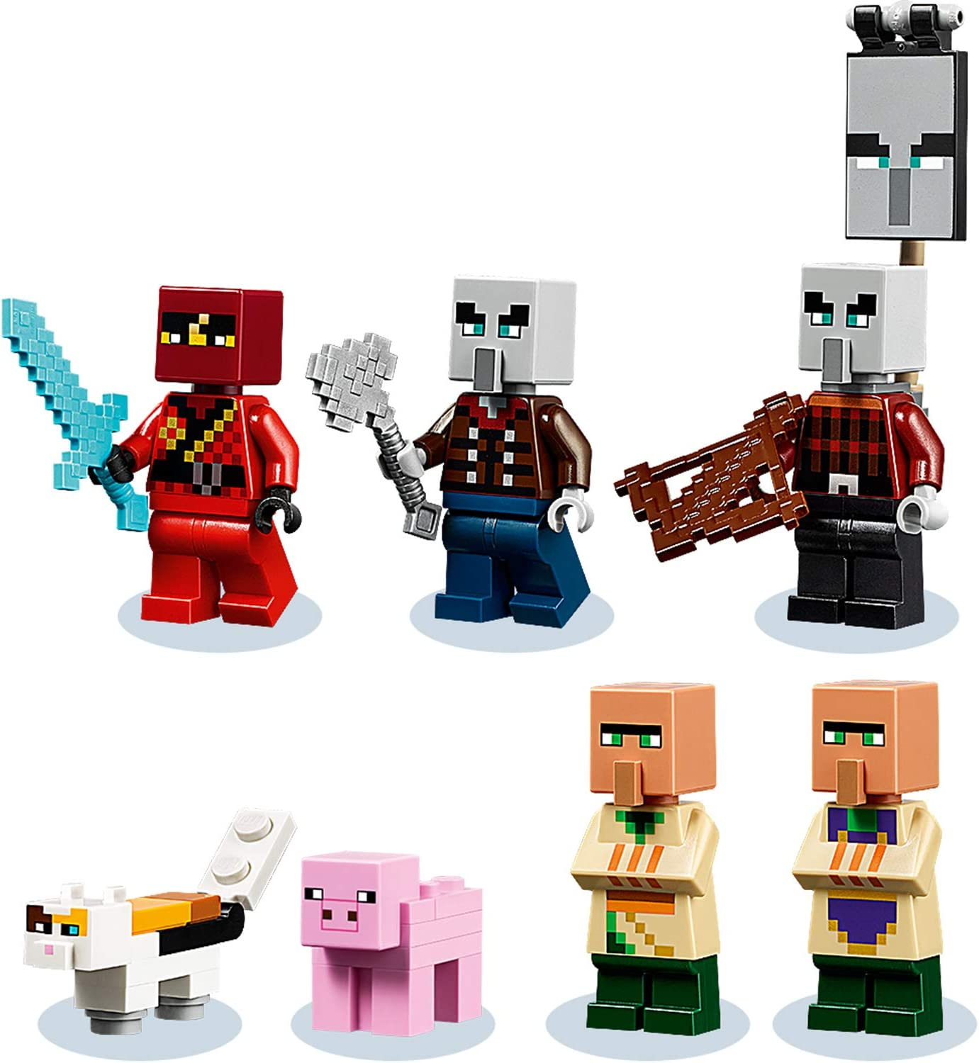 LEGO 8 Minecraft The Illager Raid Village Building Set with Ravager and  Kai, Adventure Toys for Kids