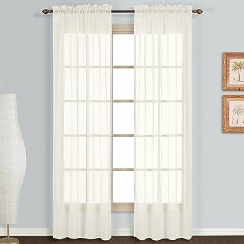 Amazon.com: United Curtain Monte Carlo Sheer Window Curtain Panel ...
