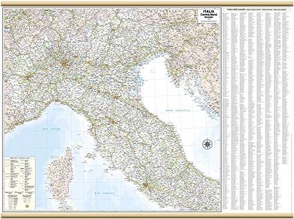Cartina Stradale Di Italia.Italia Centro Nord Stradale Carta Murale 119x88 Cm Belletti Amazon It Cancelleria E Prodotti Per Ufficio