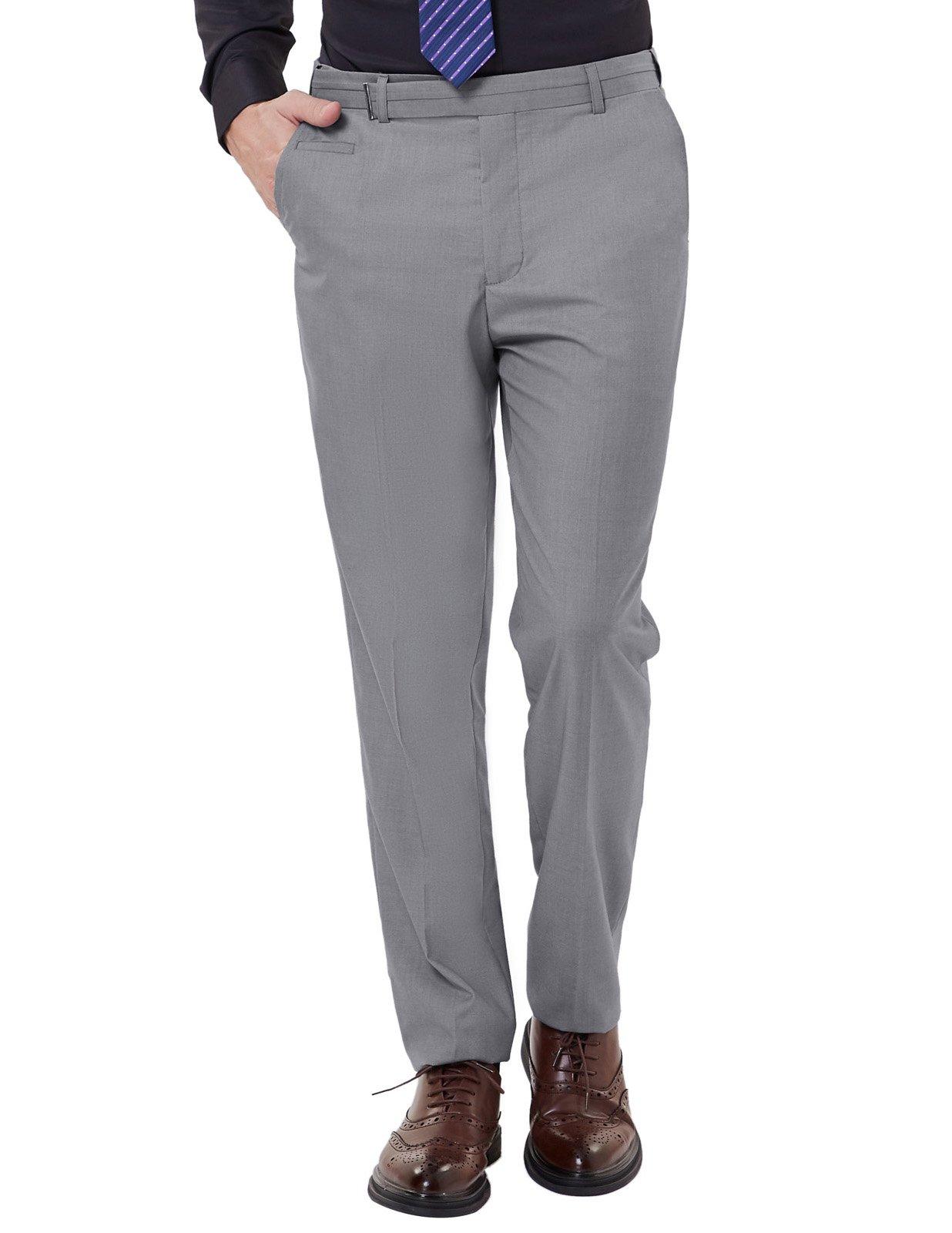 PAUL JONES Grey Semi Formal Dress Pants for Men Performance Chino