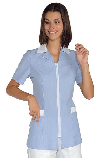 Isacco-Bata de médico Barcellona m/m, diseño de rayas, color azul y blanco: Amazon.es: Ropa y accesorios