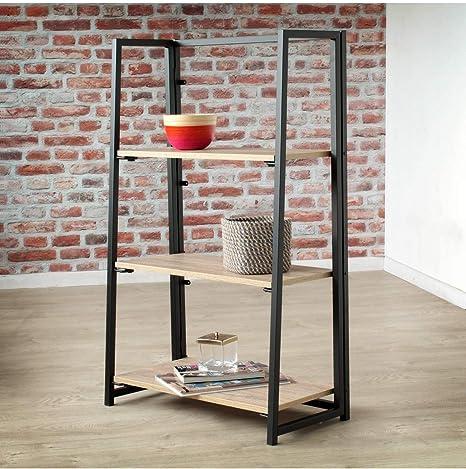 Casame Etagere Pliable 3 Niveaux Style Industriel Amazon Fr