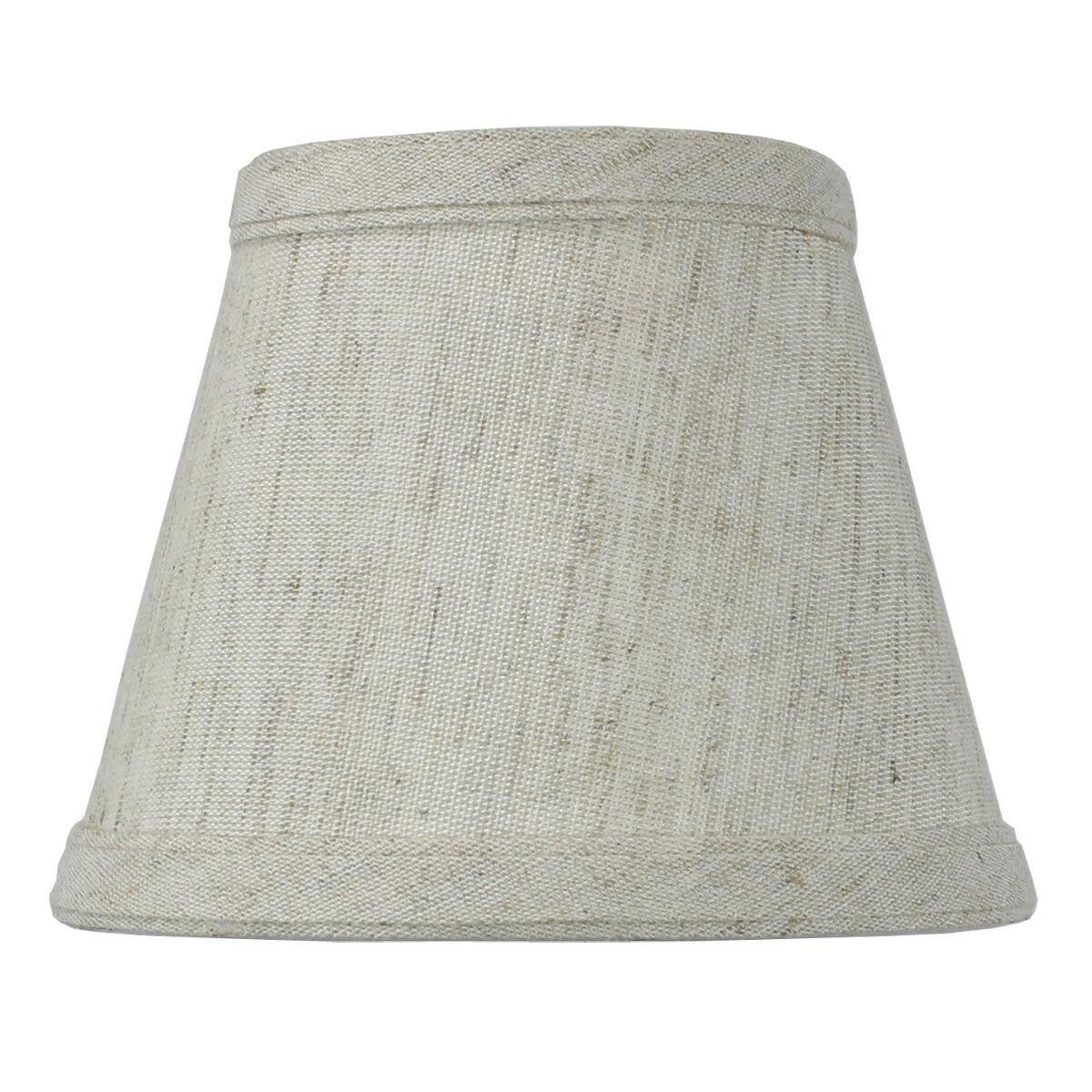 3x5x4 Off-White Clip-on Candlelabra Shade By Home Concept - Perfect for chandeliers, foyer lights, and wall sconces -Small, Textured Oatmeal