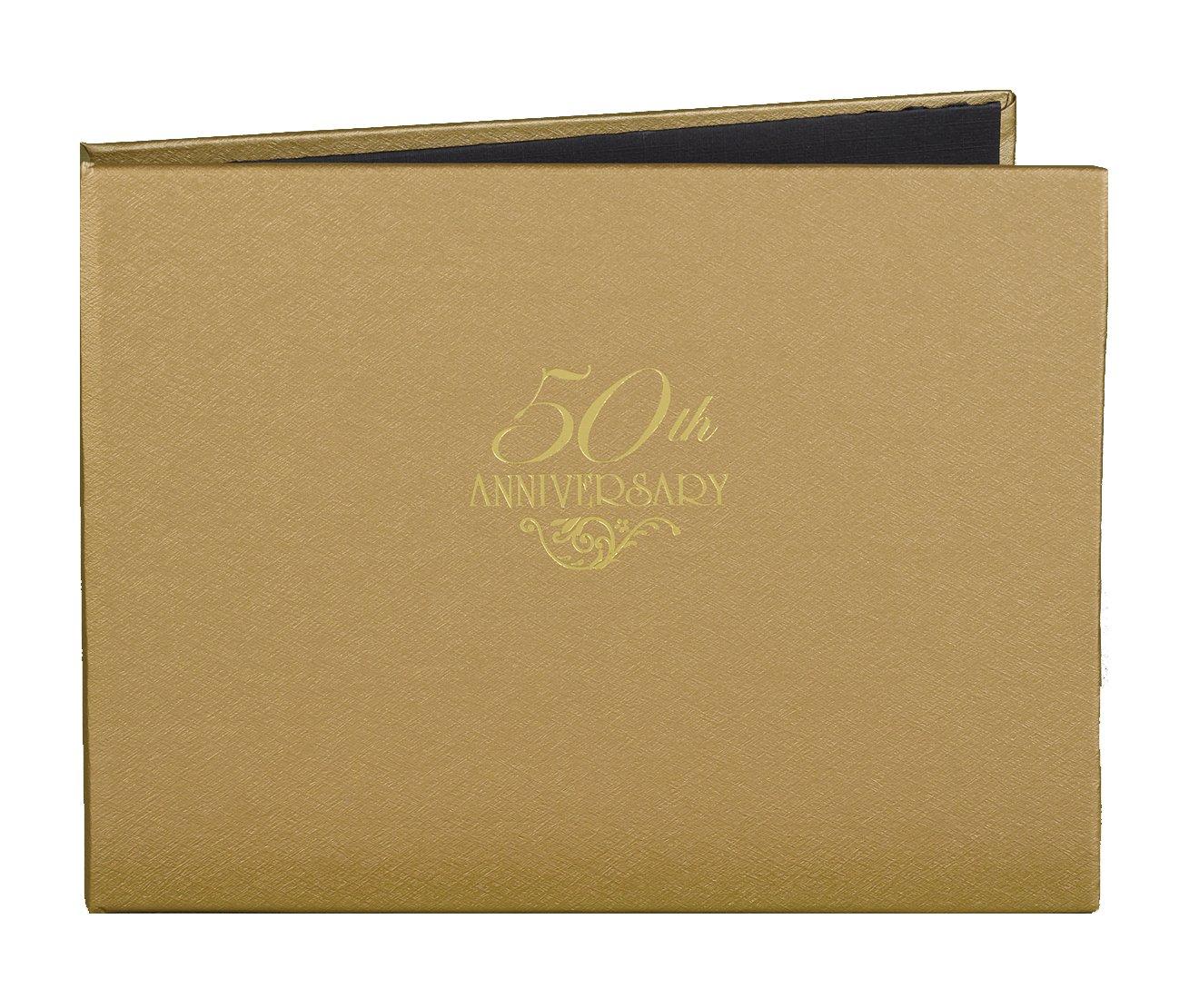 Hortense B. Hewitt Wedding Accessories 50th Anniversary Gold Guest Book by Hortense B. Hewitt