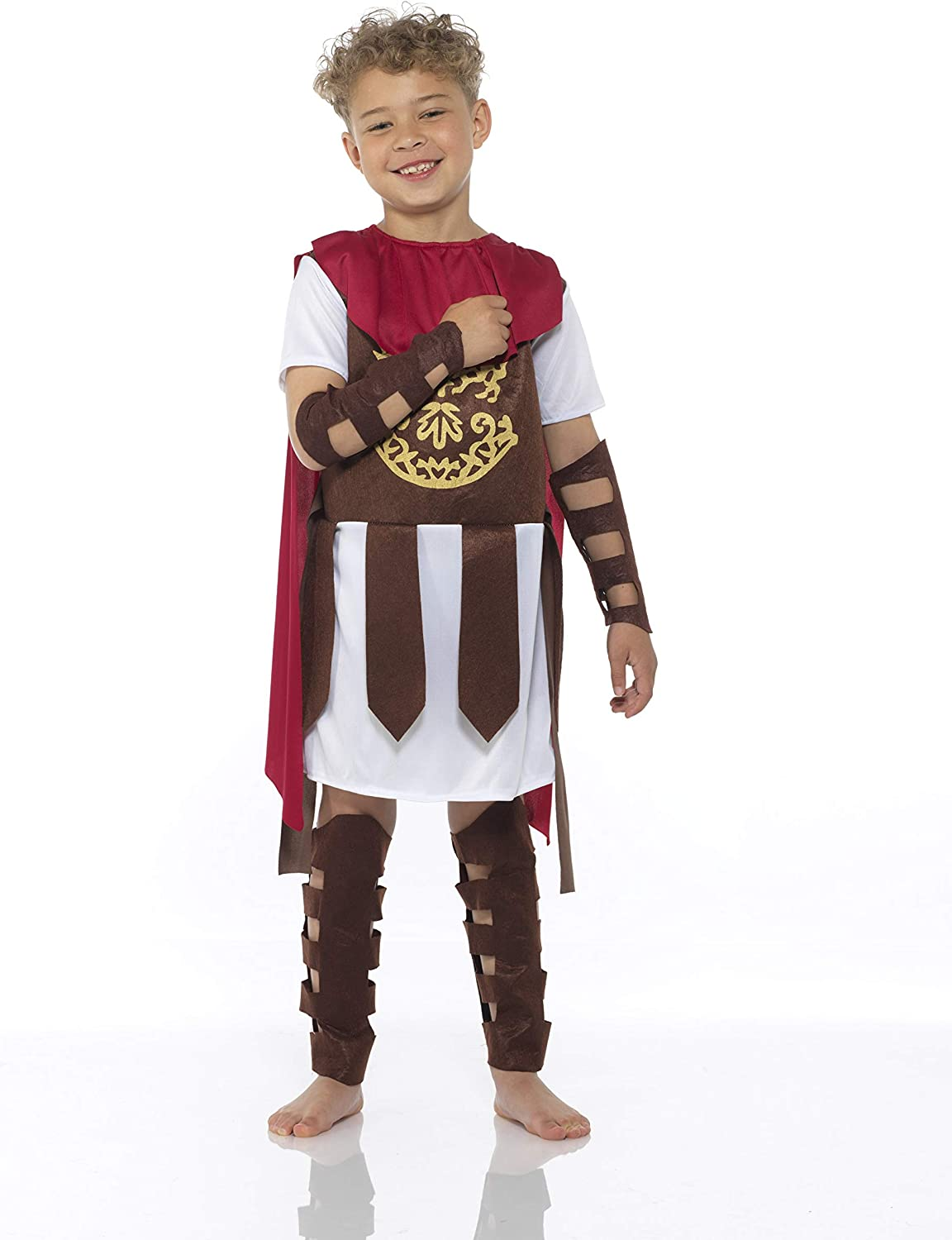 Roman Soldier Centurion for Halloween Party Boys XL Gladiator Costume Kids